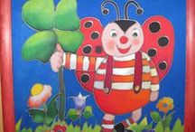 Pictures for children / These are my handpainted pictures on silk.
