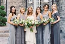 B R I D E S M A I D S / Inspiration for bridesmaid attire, that is elegant and timeless.