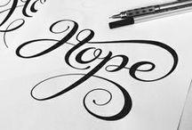 Lettering ♡ / by K. Holt