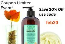 Coupons and Interesting Items / Limited time coupons, offers and items of interest about natural skin and hair care products.