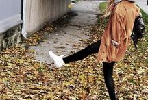 """falling leaves, longer sleeves / """"life starts all over again when it gets crisp in the fall"""" / by Niela J"""