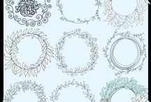 Creative Market Design Resources / Vectors, Digital Paper Backgrounds, Photoshop Brushes & Hand Drawn ClipArt Illustrations for Personal & Small Business Commercial Use.  High Resolution Resources & Digital Graphics for Crafters and Makers.