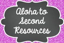 Aloha to Second Resources / This board contains various primary activities that can be found at my TPT store!