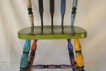 Painted Chairs and Tables