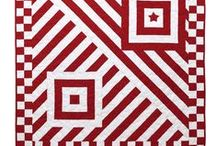 iQuilt Red&White Ideas / One day I'm gonna make a red and white quilt.