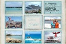 iScrap Cruise / Scrapbooking layout ideas for cruise pictures.