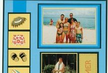 iScrap Beach / Scrapbooking layouts for beach pages.