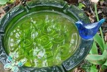 iYard Glass / Make yard art with glass dishes and bottles.