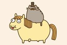Pusheen the cat!! / by Zandra Burt