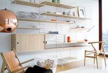 String shelving / String shelving, storage solutions