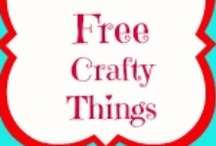 Free Crafty Things / Sewing, scrapbooking, and more! Free things for crafters / by 3 Boys and a Dog