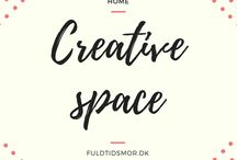 Home: Creative space / Inspiration for organizing your creative work space and home office