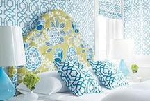 Home Designs in Blue / Bold blues and toned down hues are a great addition to any decor style. / by ATGStores.com