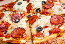 Recipes To Try: Pizza / Pizza can be so much more than your typical cheese or pepperoni. Try a fruit pizza, dessert pizza, pizza on a bun, pizza in the crockpot, or one of these other great pizza recipes / by 3 Boys and a Dog