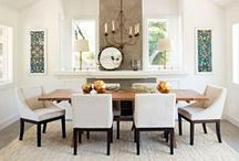 Dramatic Dining / Dining rooms are itching to be designed with style and filled with friends.