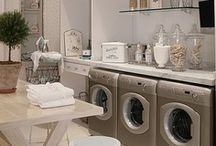 adorn me: laundry / mud rooms / Decorating and design ideas for utility rooms.