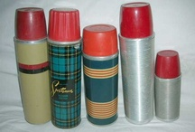 collect me: vintage thermoses / Back in the day thermos bottles could be found in almost every household in the USA. People used these vacuum flasks to transport cold or hot liquids to work, school and picnics. Here are examples of some cool vintage thermoses. See my board REUSE ME:  VINTAGE THERMOSES for some neat ideas on how to repurpose these vessels. For a look at some examples of kid lunchbox thermoses see COLLECT ME: VINTAGE THERMOSES, LUNCHBOX VARIETY.