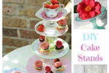 IMPRESSIVE STANDS / CREATE SIMPLE OR ELEGANT STANDS FOR ANY OCCASION TO DISPLAY YOUR FAVORITE DESERTS OR APPETIZERS.  / by Rosie Lujan