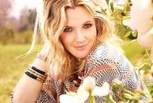 Drew Barrymore {just adore} / I totally adore Drew. I love her business sense, her carefree spirit, her beauty, her sense of humor. I especially love her as a role model. I hope to one day photograph her.