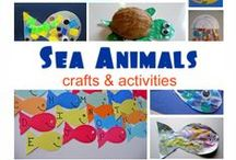 Ocean Animals Unit Study / Teach your kids about the animals of the ocean using math, science, crafts, handwriting, snacks, books, music and more!