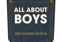 All About Boys: The Series / A series about sewing for boys. Our summer series is a free pattern edition. We used the Oliver & S Sunny Day shorts and Dana's Basic Tee as our patterns and customized from there.