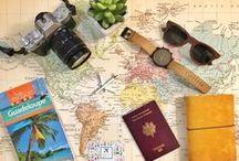 Autour du voyage / Valises, mallettes, vanity & co - Globes terrestres, map monde - Guides, cartes & co