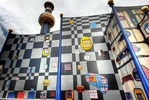 Hundertwasser / The colorful, abstract & organic architecture of Austrian artist Friedensreich Hundertwasser.