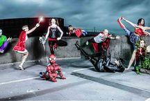HumminmgbirdPY Superheroes / Pilates & Yoga makes you feel Super!  #Superheroes photoshoot with #LindaBlacker