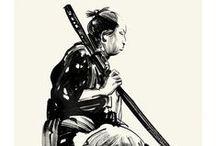 geo samurai. / tattoo design commission