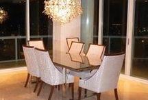 Dining Rooms / Dining rooms are trending whether as a separate formal room, open flowing floor plan, or small corner carved out from the living space. The dining table is historically the favorite spot for families to congregate at the end of the day to share a meal and the events of the day.