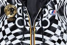 K-WAY X Versus Versace / In a special one-off collaboration, VERSUS VERSACE and K-WAY have created the perfect zip-up jacket, as well as an iPad case, full of attitude and style.  Avalaible online at shop.versace.com #VersusVersace / by Versace