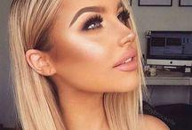 B e a u t y / Beautiful people & makeup ideas
