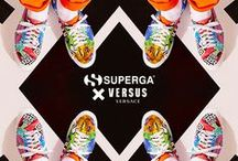 Superga X Versus Versace / A thrilling collaboration designed for subversives. Classic Superga sneakers get a Versus makeover with kaleidoscopic cut-up prints. Get your kicks on and join the wild tribe. #SupergaXVersusVersace #VersusVersace  / by Versace