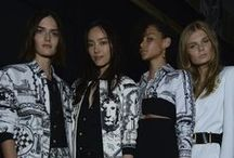 Anthony Vaccarello X Versus Versace / Anthony Vaccarello's capsule collection for Versus Versace is a provocative and rebellious statement. For women, panels of octagon cutout leather reveal the body beneath in long draped dresses. For men, there's also sharp tailoring in black for a sleek look. Be the first to wear it now.  http://goo.gl/ucsofO #VaccarelloxVersus #VersusVersace / by Versace