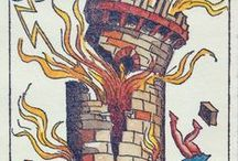 ☄ T A R O T T O W E R / tower, la maison dieu, major arcana, torre