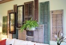 Shutters/Room Dividers/Shelves / shutters/room dividers & shelf ideas