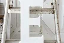 Initial Decor Ideas / Initials, letters, numbers and & decor ideas /how-to