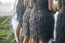 Chic Black Weddings / City Chic or vintage inspired glamour from a previous era; black is fabulous and creates beautiful elegant weddings.