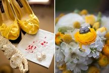 Elegant yellow weddings / Soft cream through pretty pastel lemon to cheery sunflower; yellow is a gorgeous wedding colour that mixes well with others.
