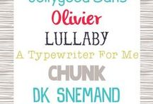 fonts / by Kathy Hyder