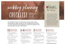 Wedding Planning Tools & Guides / Helpful checklists and spreadsheets for planning a weddding