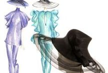 Millinery:  Millinery Sketches, Fashion Illustration, and Tutorials / A board dedicated to learning how to illustrate and sketch millinery and hatting fashions and designs, including other fashion accessories, plus how-to tutorials for drawing and illustrating same..