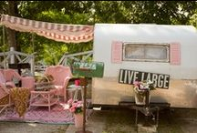 "Glamping / ""Wanderlust""...a great desire to travel and rove about.  / by gMarie"