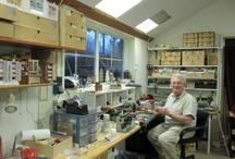 miniatures studios / Where do miniaturists work and how do they organize their studios?
