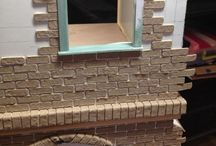 Miniatures - building the house / tutorials related to the construction of the dollhouse