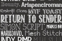 • fonts • / by Ruth Borger