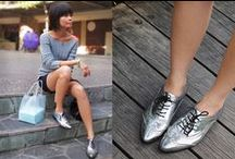 How to wear: Metallic Brogues