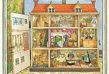 Graphics - dollhouse / Dollhouse graphics, cross sections, drawings and pictures