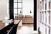 Black & White Rooms / One day I'd love a black & white house.