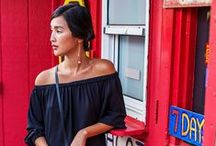 How to wear: Off the Shoulder / styling inpo for off the shoulder -